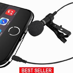The #1 Rated Deluxe Microphone System, Lavalier Microphone Can Be Used On All Phones, Karaoke, Youtube, Studio; Microphone System For Computers; Lapel Dynamic Mic Noise Cancelling Microphone Mibia