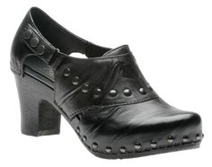 Dansko Rider studded heeled clogs are super comfortable and look great with skinny and boot cut jeans