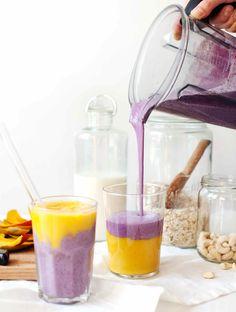 Tess's Blueberru Breakfast Tart + Mystical Mango Smoothie