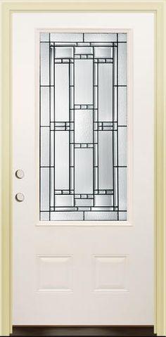 Mastercraft® SR-656 Steel Half-Lite Prehung Exterior Door at ...