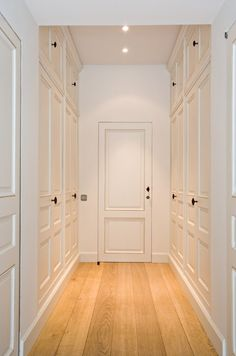 Closets in a hall