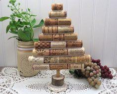 Wine Corks - Bouchons en liège mini sapin de Noël décoration de par 4EyesAndEars