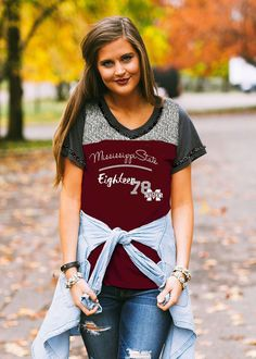 MISSISSIPPI STATE 'TOUCHDOWN TO A TEE' FOOTBALL TEE