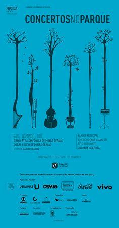 Coral Lírico e Orquestra Sinfônica de Minas Gerais Concertos no Parque – Edição Savassi Festival  Belo Horizonte - Minas Gerais  Poster Design Music  http://fcs.mg.gov.br/programacao/concertos-no-parque-edicao-savassi-festival/
