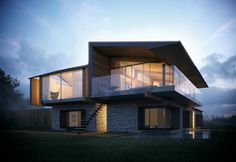 Silver House by Metro Cúbico Digital, via Behance