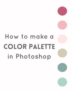 Create a color palette in Photoshop