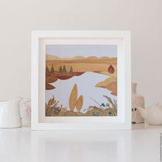 Купить или заказать Картина из листьев 'Голубое озеро' в интернет-магазине на Ярмарке Мастеров. Пейзаж из листьев и цветов. Красота природы, 'нарисованная' фактурными природными мазками. Создаёт уют в доме. Гармоничные цвета радуют глаз. Отлично смотрится в белом интерьере, в соседстве с деревом и натуральными оттенками.