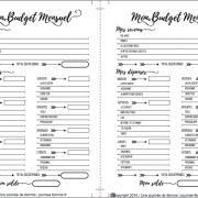 Budget mensuel A5