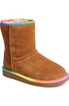 UGG® Australia 'Classic Short' Rainbow Boot (Walker, Toddler, Little Kid