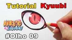 Como Desenhar Olho da Kyuubi Naruto Shippuden - How to Draw Eye of the K...