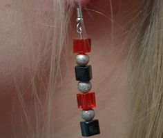 "EARRINGS ""CUBALICIOUS""  Materials used: Plastic cubes  Author: V&V Designs @ UniqShop.eu"