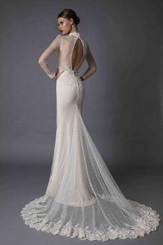 328b4cd9acf2 TOP 19 Vestido de Noiva com Decote nas Costas | Berta Bridal Best Wedding  Dresses,
