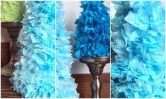 Tissue Paper Christmas Trees diy