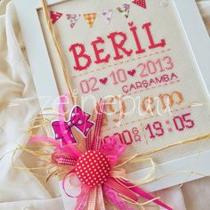 Zeinepuu: Beril*in doğum panosu ♥ Cross Stitch, Gift Wrapping, Embroidery, Gifts, Gift Wrapping Paper, Punto De Cruz, Needlepoint, Presents, Wrapping Gifts