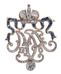Chiffre offert par l'empereur Nicolas II et l'impératrice Alexandra Feodorovna à la femme de l'ambassadeur de France en Russie, Maurice Bompard, ambassadeur de 1903 à 1908. Ce cadeau n'est pas un cadeau… - Ader - 19/12/2014