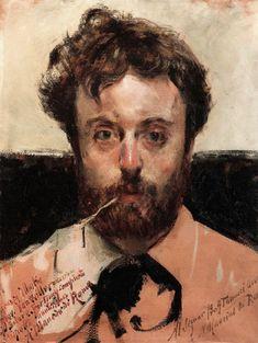 Antonio Mancini (1852-1930) - Self Portrait, Madness Period