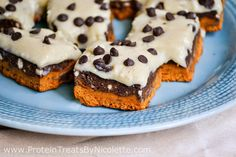 Chocolate Chip Cookie Dough Quest Bar Brownies