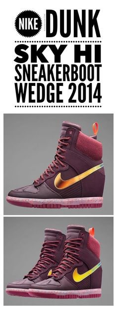 Nike Dunk Sky Hi Sneakerboot Wedge | The House of Beccaria~