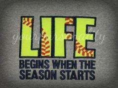 Life Begins when the Season Starts