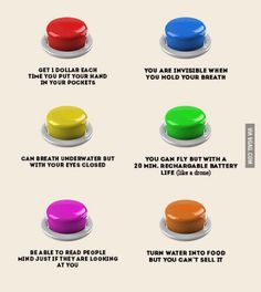 I will probably choose the red button! Its the best choice because i can't hold my breath for long
