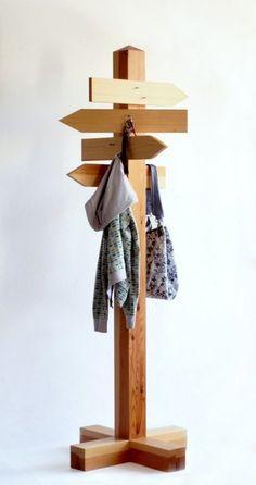 directions sign coat hanger