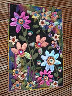 The Nifty Stitcher: Fantasy Flowers Finished !