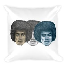Tripple MJs illustrated by Robert Bowen Square Pillow