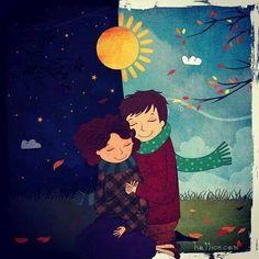 Talvez a saudade seja uma das mais belas formas de afinidade... sem ela não teríamos a alegria do abraço de alguém que mesmo distante nos faz bem... Emoticon heart  Junior Fuchert