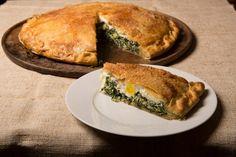 Giant Green Pie (Torta Pascualina) - looks like a good use for greens. via NYT