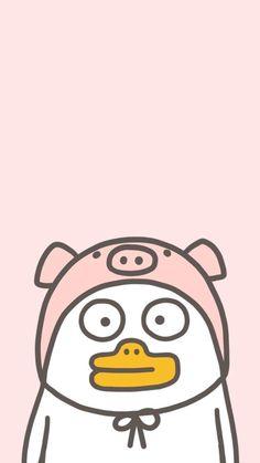New Wallpaper Iphone, Soft Wallpaper, Bear Wallpaper, Kawaii Wallpaper, Cartoon Wallpaper, Duck Emoji, Duck Memes, Chicken Wallpaper, Tumblr Cartoon
