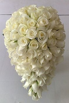 white teardrop floral arrangements | ... of denai s flowers bride bouquet  wired teardrop