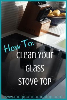 Clean Your Glass Stove Top! The store bought wipes, putties and sponges don't work. BUT some good old fashioned home made cleaning products always do the trick! Check out these easy ways to get your stove top clean and make burn marks disappear. Deep Cleaning Tips, Household Cleaning Tips, Cleaning Recipes, House Cleaning Tips, Natural Cleaning Products, Cleaning Solutions, Cleaning Hacks, Cleaning Stove, Household Chores