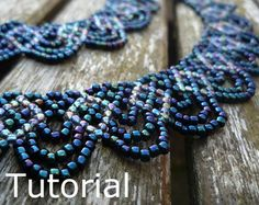 Simple Necklace Beadwork Pattern/Tutorial  Instant Download