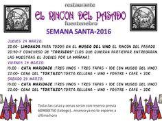 Si te pilla a mano Fuentenebro, delicias de #SemanaSanta en El Rincón del Pasado Restaurante y Museo del Vino.  Un lugar con Encanto digno de visitar. ¡A disfrutar !