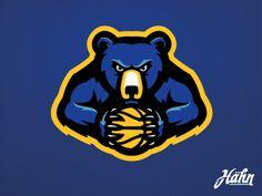Bears basketball logo dribbble