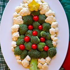 Christmas Tree Veggie Plate