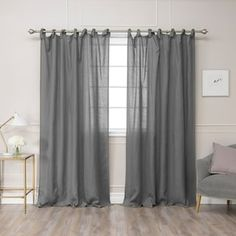 Dark Grey Curtains, Grey Linen Curtains, Tie Top Curtains, Ruffle Curtains, Drapery Panels, Panel Curtains, Valance, Home Interior Accessories, Custom Drapes