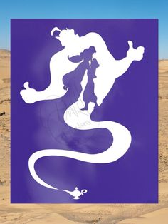 Aladdin Jasmine and Genie - Disney Inspired Minimalist Print - Purple - - Wall Art - Poster Disney Silhouette Art, Princess Silhouette, Disney Silhouettes, Disney Canvas Paintings, Disney Canvas Art, Arte Disney, Disney Art, Disney Fantasy, Pinturas Disney