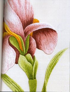 CHL Design: Silk Shading from the Royal School of Needlework Silk Ribbon Embroidery, Crewel Embroidery, Hand Embroidery Patterns, Embroidery Thread, Cross Stitch Embroidery, Embroidery Designs, Russian Embroidery, Embroidery Fashion, Diy Broderie
