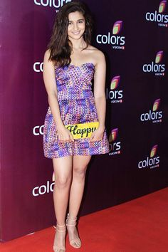 Alia Bhatt on red carpet during Colors party 2015