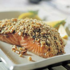 Crunchy Walnut-Crusted Salmon Filets