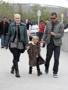 Gwen Stefani and Gavin Rossdales family day