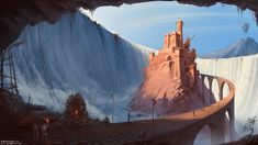 ArtStation - Waterfall castle, Sviatoslav Gerasimchuk