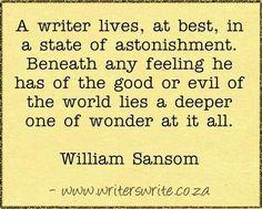 A writer lives