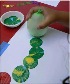 Great Teaching Ideas met een waterballon en verf