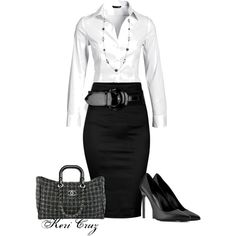 Classy Office Attire, created by keri-cruz on Polyvore