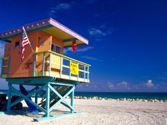 ife Guard Station, South Beach, Miami, Florida, USA by Terry Eggers