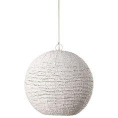 Perles - Lampada a sospensione con sfere bianche D.47 cm