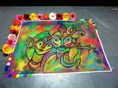 30 Creative Kolam Rangoli Designs for this Festival season Easy Rangoli Designs Videos, Easy Rangoli Designs Diwali, Rangoli Simple, Rangoli Designs Latest, Rangoli Designs Flower, Latest Rangoli, Small Rangoli Design, Colorful Rangoli Designs, Rangoli Ideas