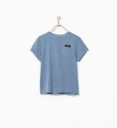 ZARA - KIDS - WASHED ORGANIC COTTON T-SHIRT WITH POCKETS
